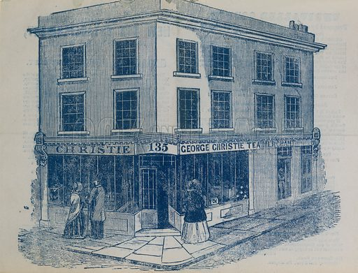 George Christie Tea Merchant shop, London.