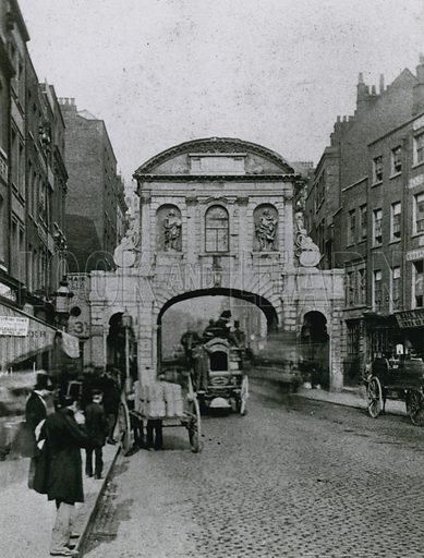 General view of Temple Bar, London.