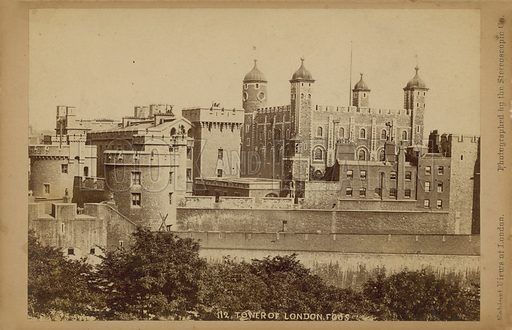 Postcard with an image of the Tower of London.