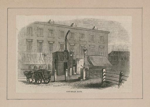 City Road Turnpike Gate, London, abolished 1864.