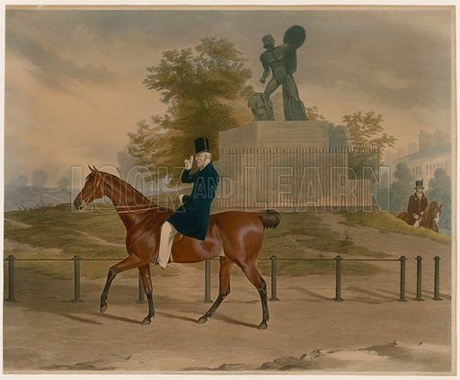 Hyde Park, London, with the statue of Achilles dedicated to the Duke of Wellington