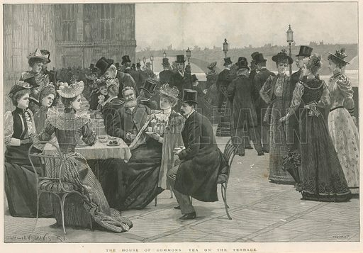 The House of Commons Tea on the Terrace; from The Illustrated London News, 2 September 1893.