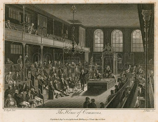 THe House of Commons, destroyed by fire, 16 October 1834; dated 1804.