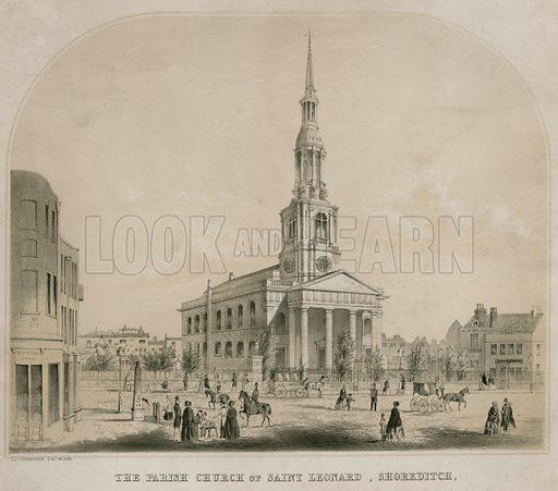 The Parish Church of Saint Leonard, Shoreditch, London.