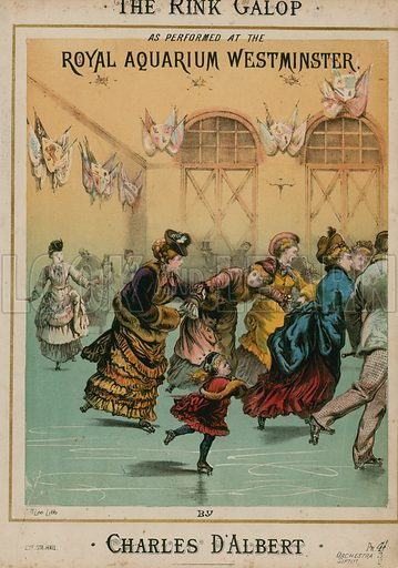 Musical score for The Rink Galop by Charles D'Albert