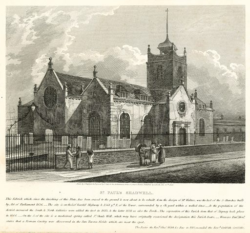 St Paul's, Shadwell, London; published 20 February 1819.