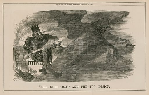 Old King Coal and the fog demon. Published in Punch, or the London Charivari, 13 November 1880.