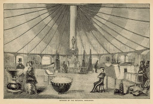 Interior of the Rotunda, Woolwich, London. Published in The Historic Times, 1849.
