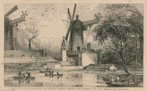 White Lead Mills near Islington, taken from the garden of the Rosemary Branch.