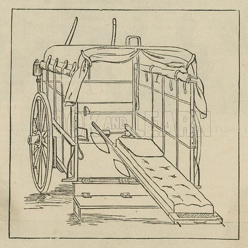 Hospital and Accident Ambulance Service vehicle; from The Graphic 4 March 1882.