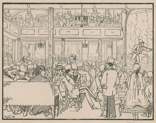 An audience at the music hall