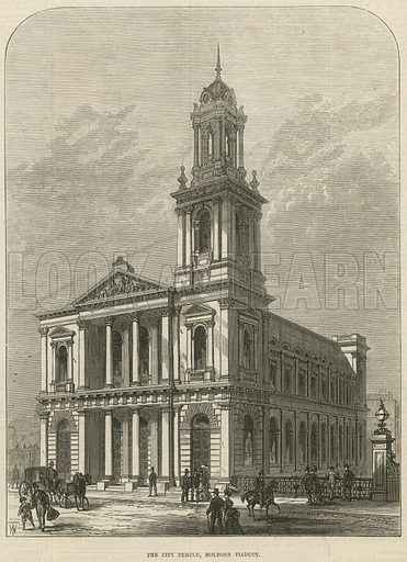 The City Temple, Holborn Viaduct; from The Illustrated London News, 6 February 1875.