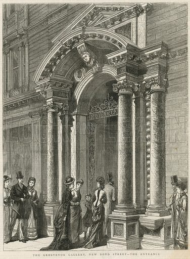 Entrance to the Grosvenor Gallery