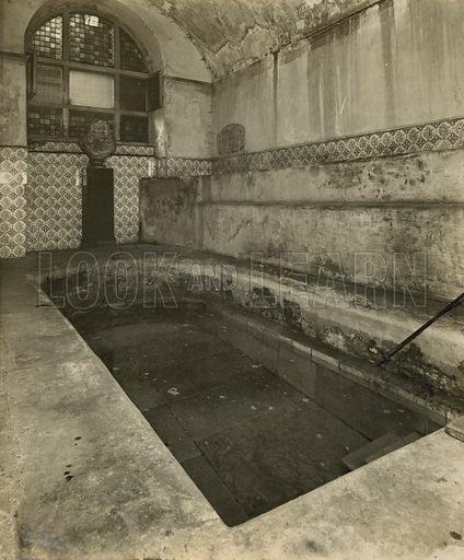 Roman Spring Baths, on Strand Lane, off the Strand, London.