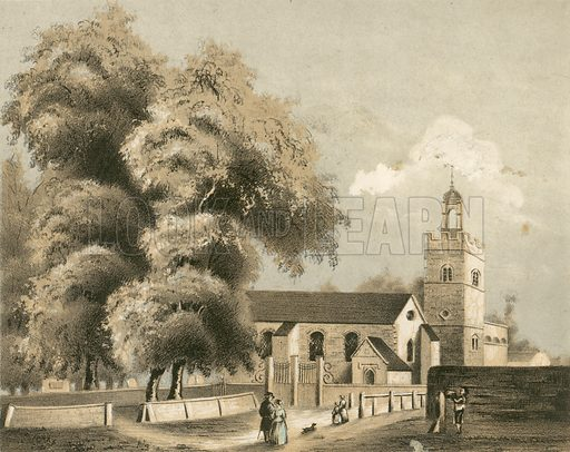 St Giles's in Camberwell, picture, image, illustration