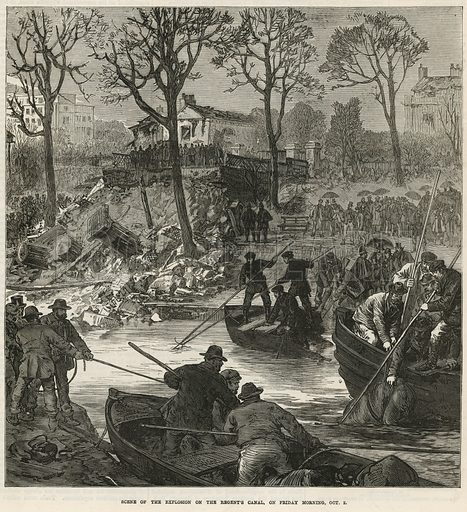 canal, picture, image, illustration