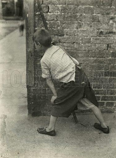 Child poverty, London.  Photograph.