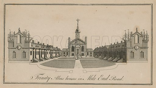 Trinity Alms Houses in Mile End Road, London.