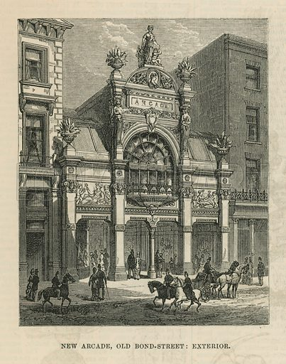 Exterior of the new arcade on Old Bond Street
