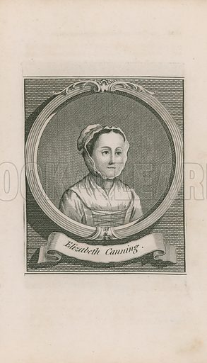 Portrait of Elizabeth Canning, British servant who claimed to have been kidnapped and held against her will in a hayloft for almost a month, ultimately becoming central to one of the most famous English criminal mysteries of the 18th centuy. Published in the New Wonderful Museum and Extraordinary Magazine.