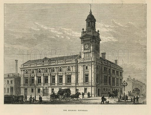 Holborn Town Hall, London; from The Illustrated London News, 17 January 1880.