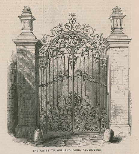 The gates to Holland Park, Kensington.