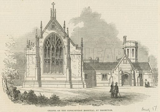 Chapel of the Consumption Hospital at Brompton; from The Illustrated London News, 17 August 1850.