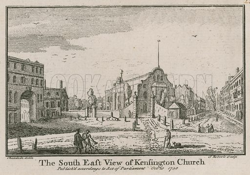 The south east view of Kensington Church; published 20 October 1750.