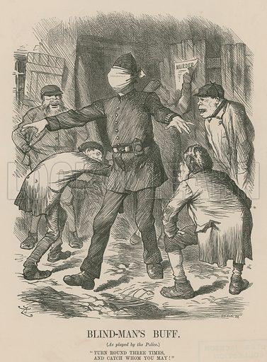 Blind-Man's Buff; from Punch, 22 September 1888.