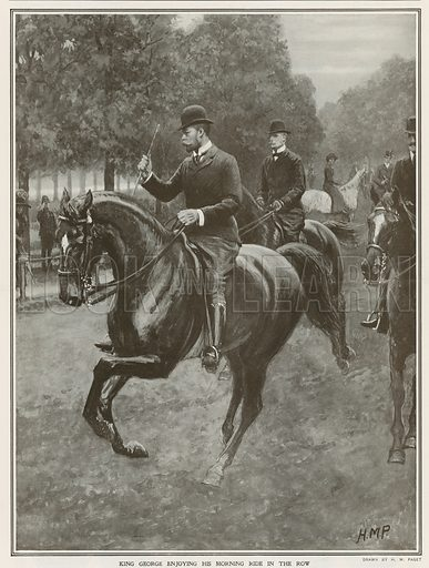 King George's daily ride in Hyde Park