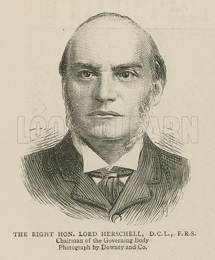 The Imperial Institute of the United Kingdom, the Colonies and India, London: The Right Honourable Lord Herschell, Chairman of the Governing Body; from The Graphic, 13 May 1893.