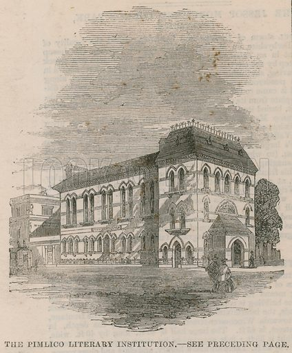The Pimlico Literary Institution, London; from The Illustrated London News, 27 July 1861.