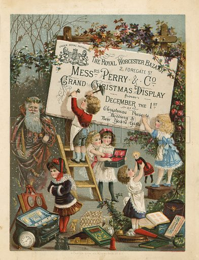Advertisement for The Royal Worcester Bazaar, 2 Foregate Street, London.