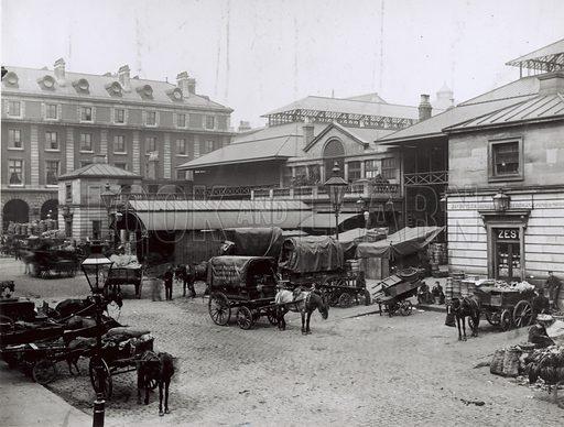 Covent Garden Market, London; photograph.