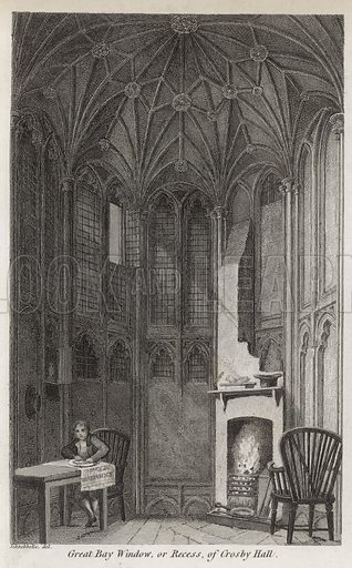 Great bay window, or recess, of Crosby Hall; published 1 January 1819.