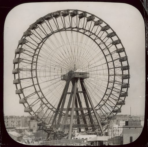 The great wheel at Earls Court, London; photograph