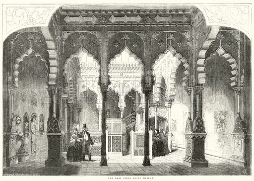The East India House Museum; from The Illustrated London News, 6 March 1858.