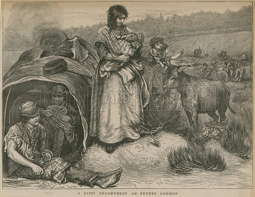 A Gipsy encampment on Putney Common, London.