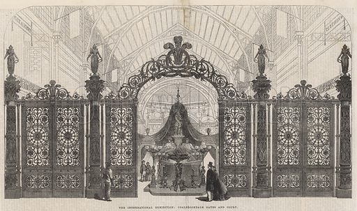 The International Exhibition; Coalbrookdale Gales and Court; from The Illustrated London News, 16 August 1862.