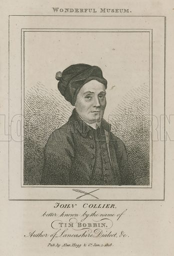 John Collier, better known by the name of Tim Bobbin; Author of Lancashire Dialect; published 1 January 1808.