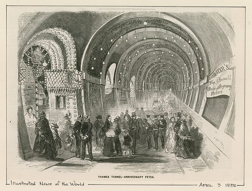 Thames Tunnel, picture, image, illustration