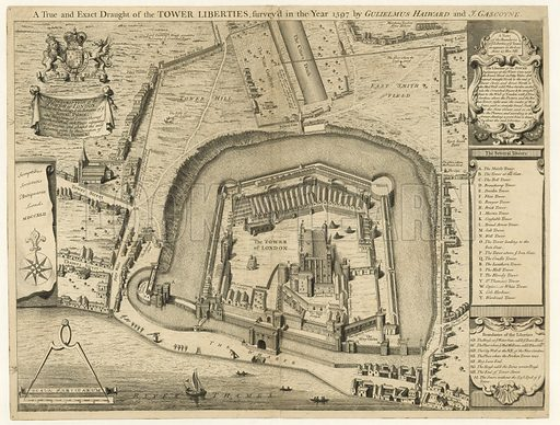 The Tower of London surveyed in the 1597