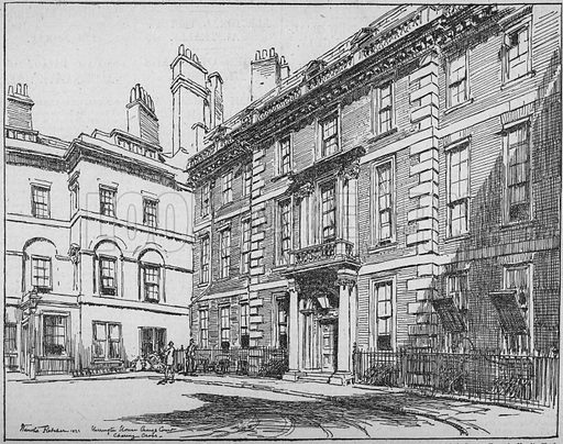 Harrington House, Craig's Court, London; The last of the old town houses west of Charing Cross; dated 1921.