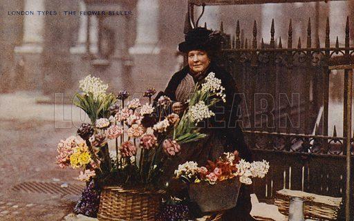 London Types: The Flower Seller