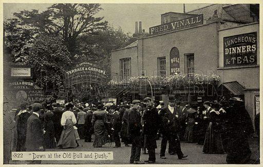 Down at the Old Bull and Bush. Public House near Hampstead Heath.