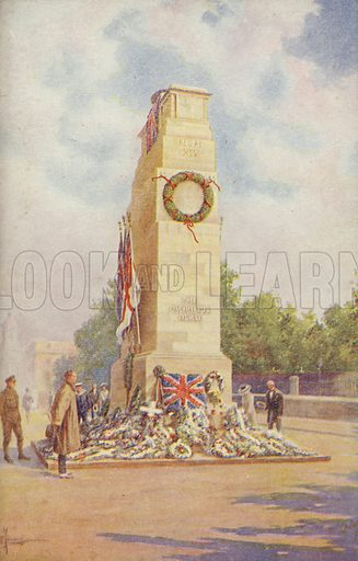 The Cenotaph. Stone memorial erected in 1920 to commemorate those killed in the First World War.