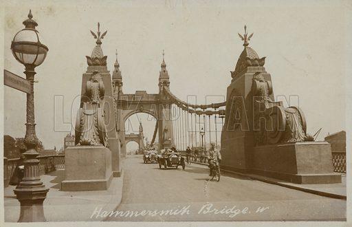 Hammersmith Bridge, London.