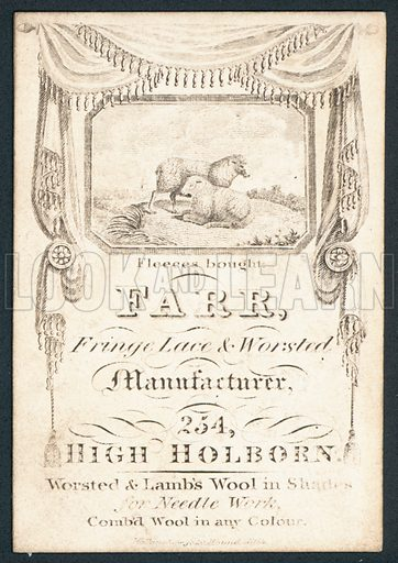 Farr, fringe lace and worsted manufacturer, trade card.