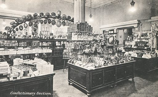 Confectionery section in Selfridges department store, London.