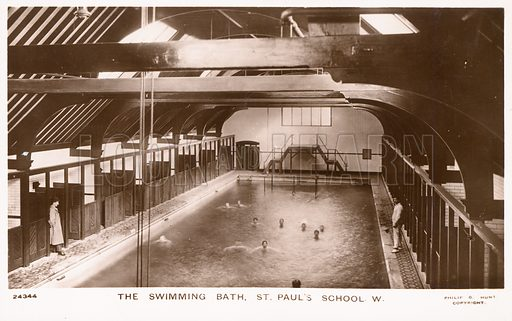 The swimming bath of St Paul's School, in Hammersmith, London. Photo by Philip G Hunt.